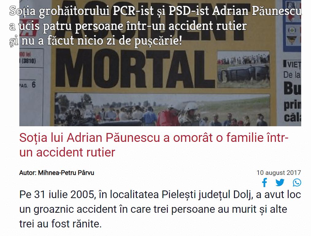 Sotia lui Adrian Paunescu
