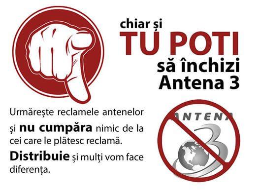Opriti jegul Antena 3