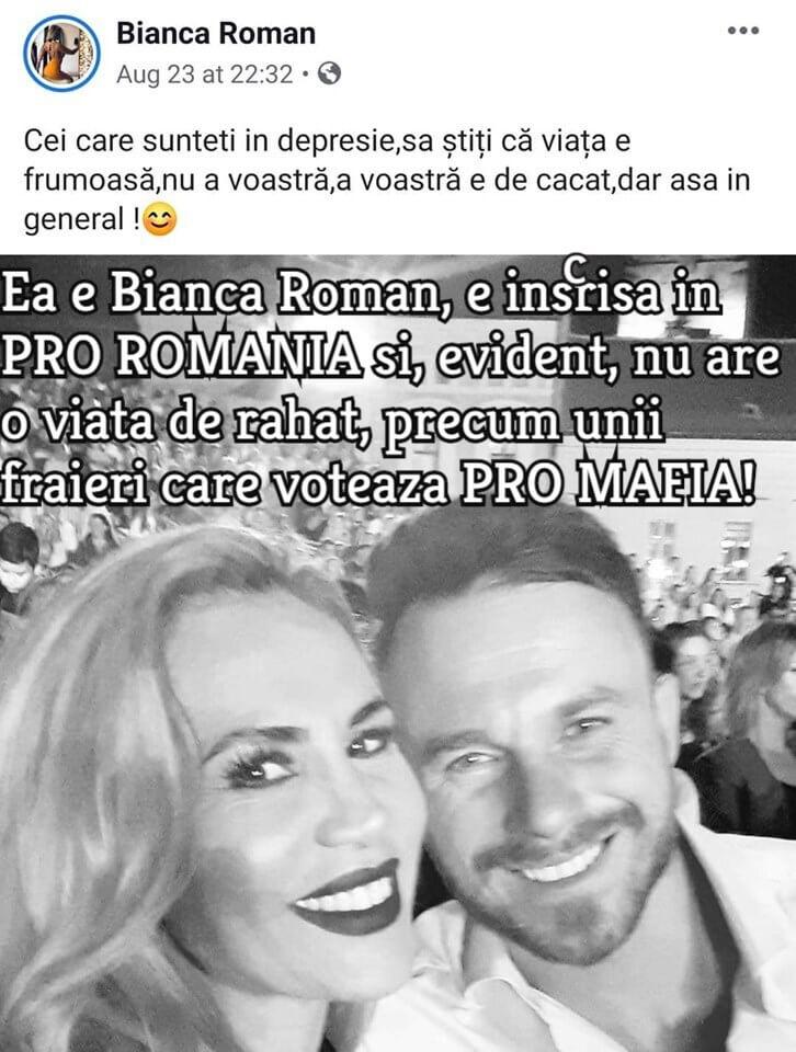 Bianca Roman, Pro Romania