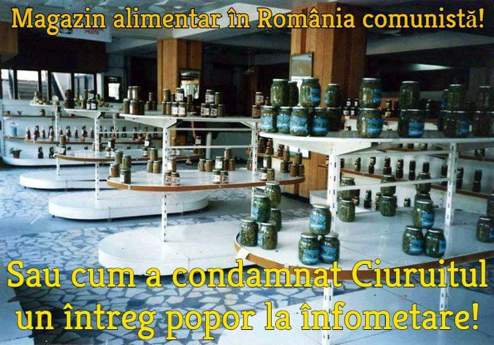 Magazin alimentar in Romania comunista