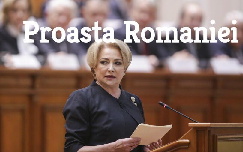 Viorica Dancila - proasta Romaniei