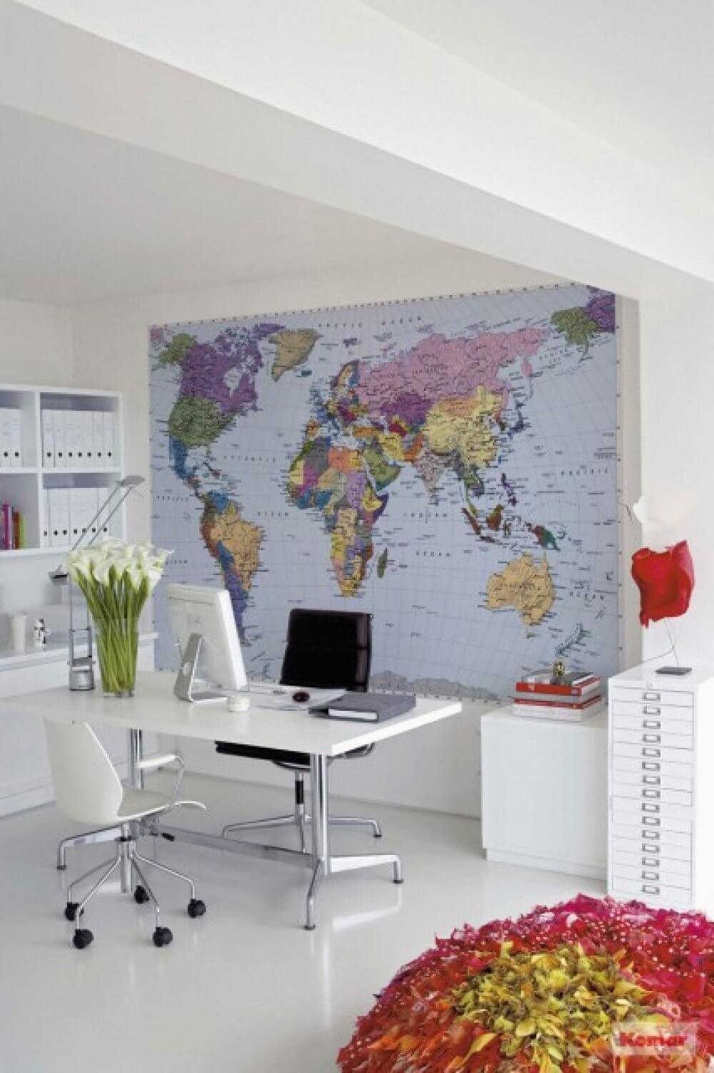 Fototapet harta politica a lumii