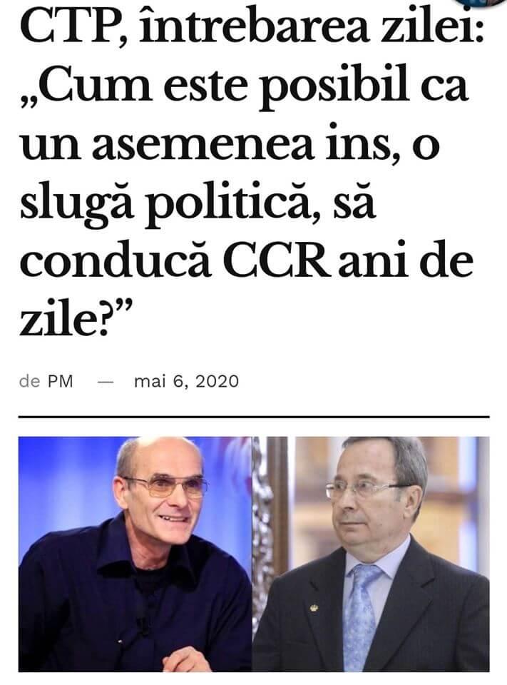 Dorneanu, de la CCR = sluga PSD