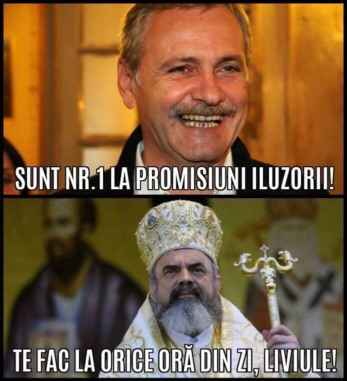 Liviu Dragnea si patriarhul Daniel