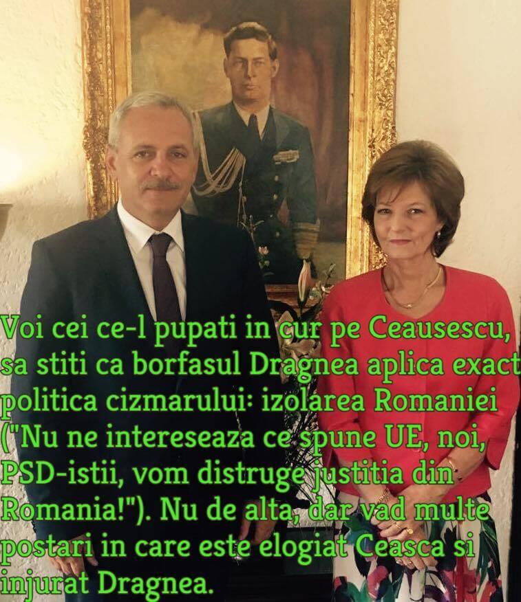 Liviu Dragnea si fiica regelui Mihai, Margareta