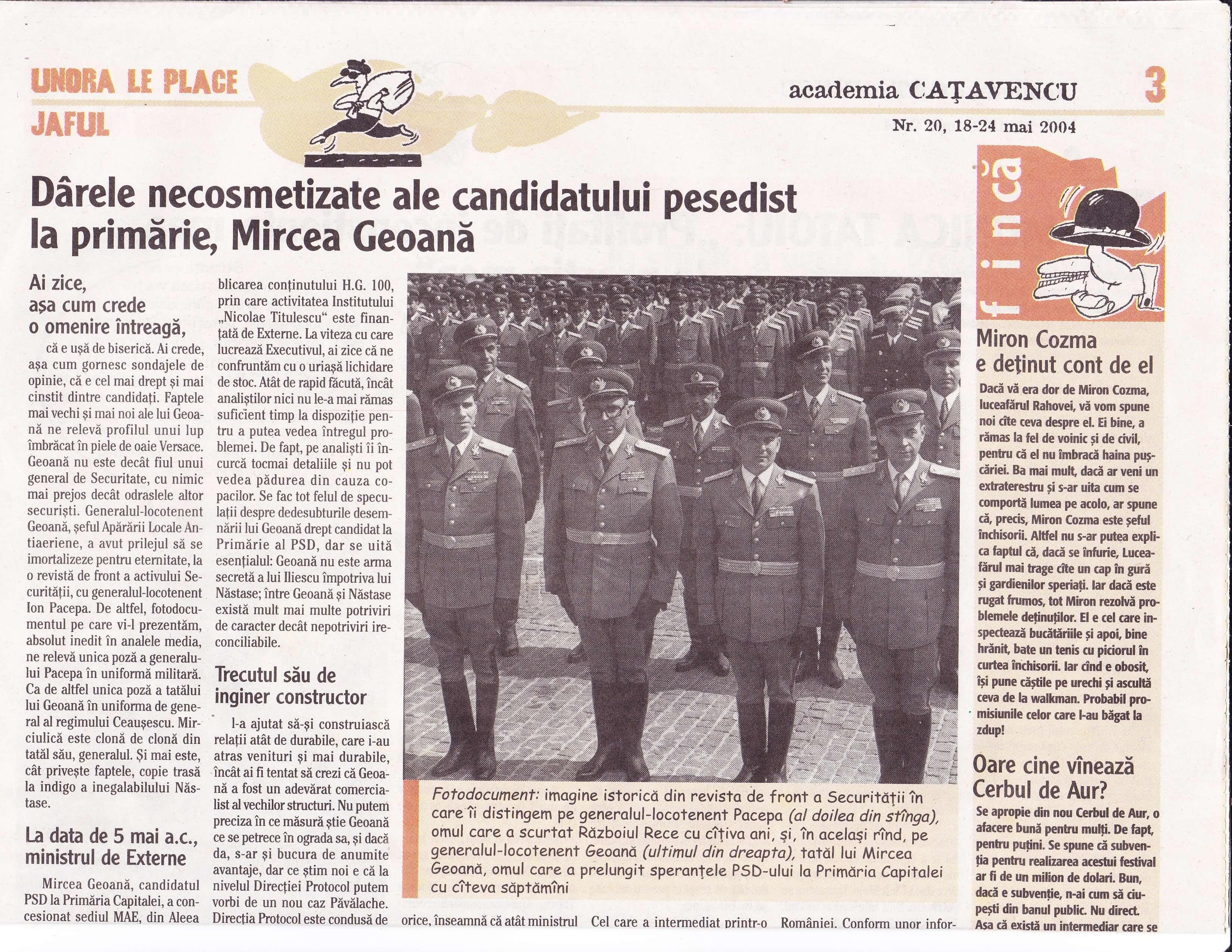 Mircea Geoană, odrasla unui general de Securitate