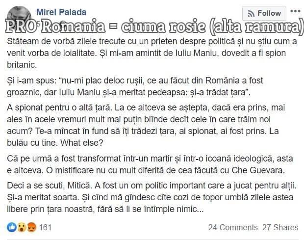 Mirel Palada, Iuliu Maniu