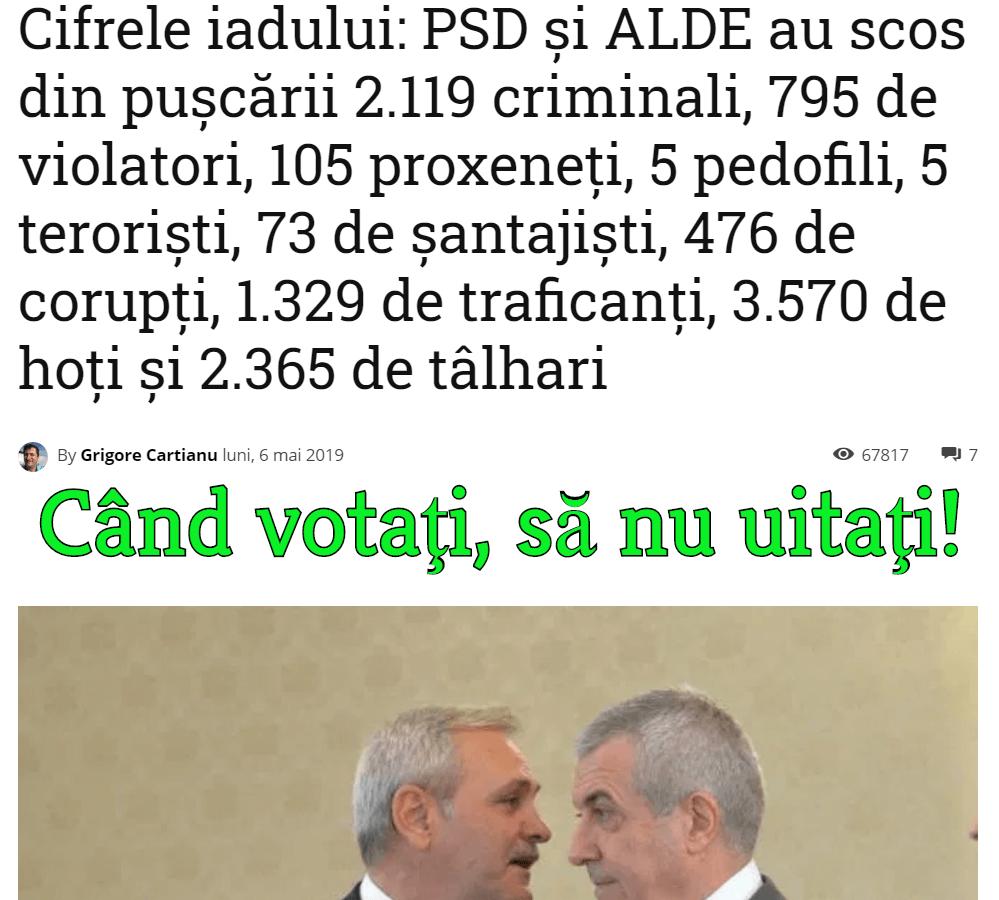 PSD - partidul borfasilor
