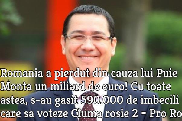 Victor Ponta, Puie Monta