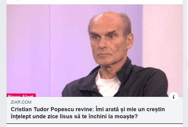 Cristian Tudor Popescu despre moaste