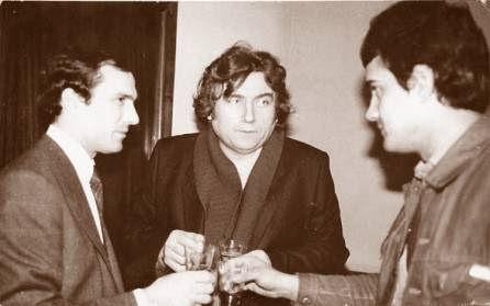 Nicu Ceausescu (stanga) si Adrian Paunescu (mijloc)