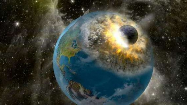 Asteroid lovind Pamantul