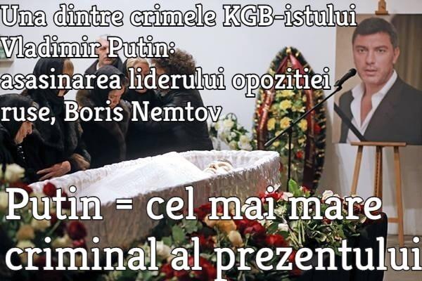 Una dintre crimele KGB-istului criminal Vladimir Putin