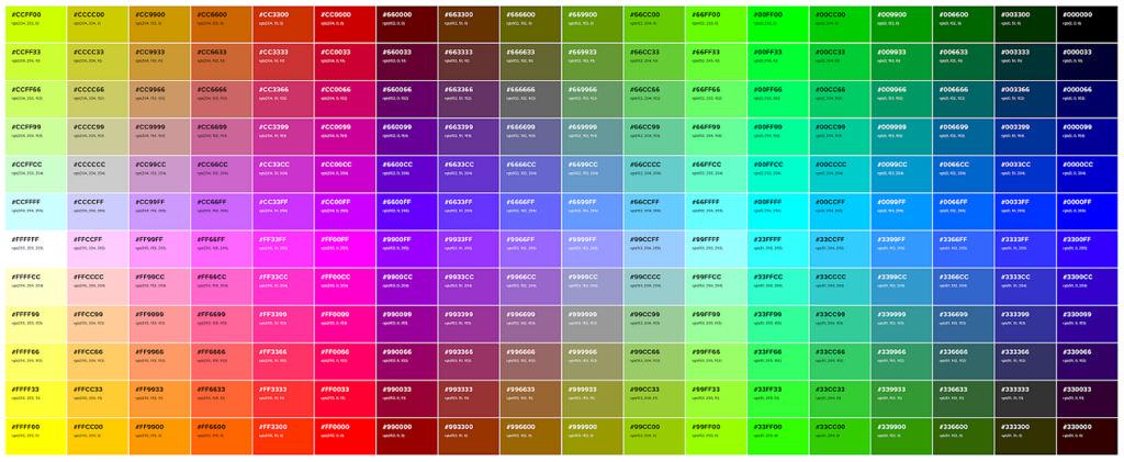 Culori html