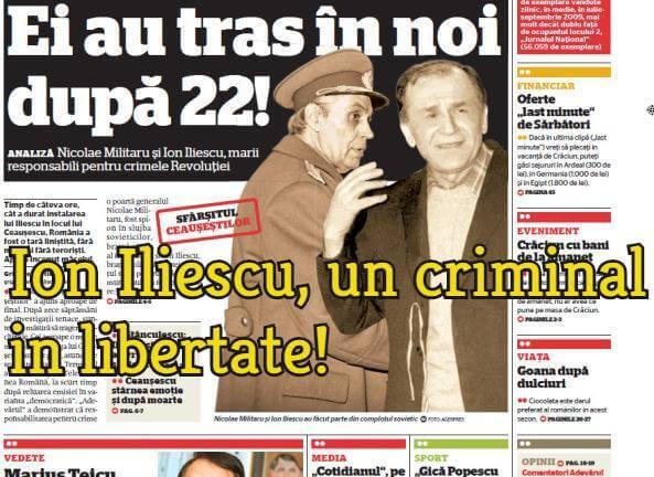 Ion Iliescu, un criminal in libertate