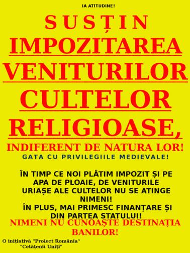 Impozitarea cultelor religioase