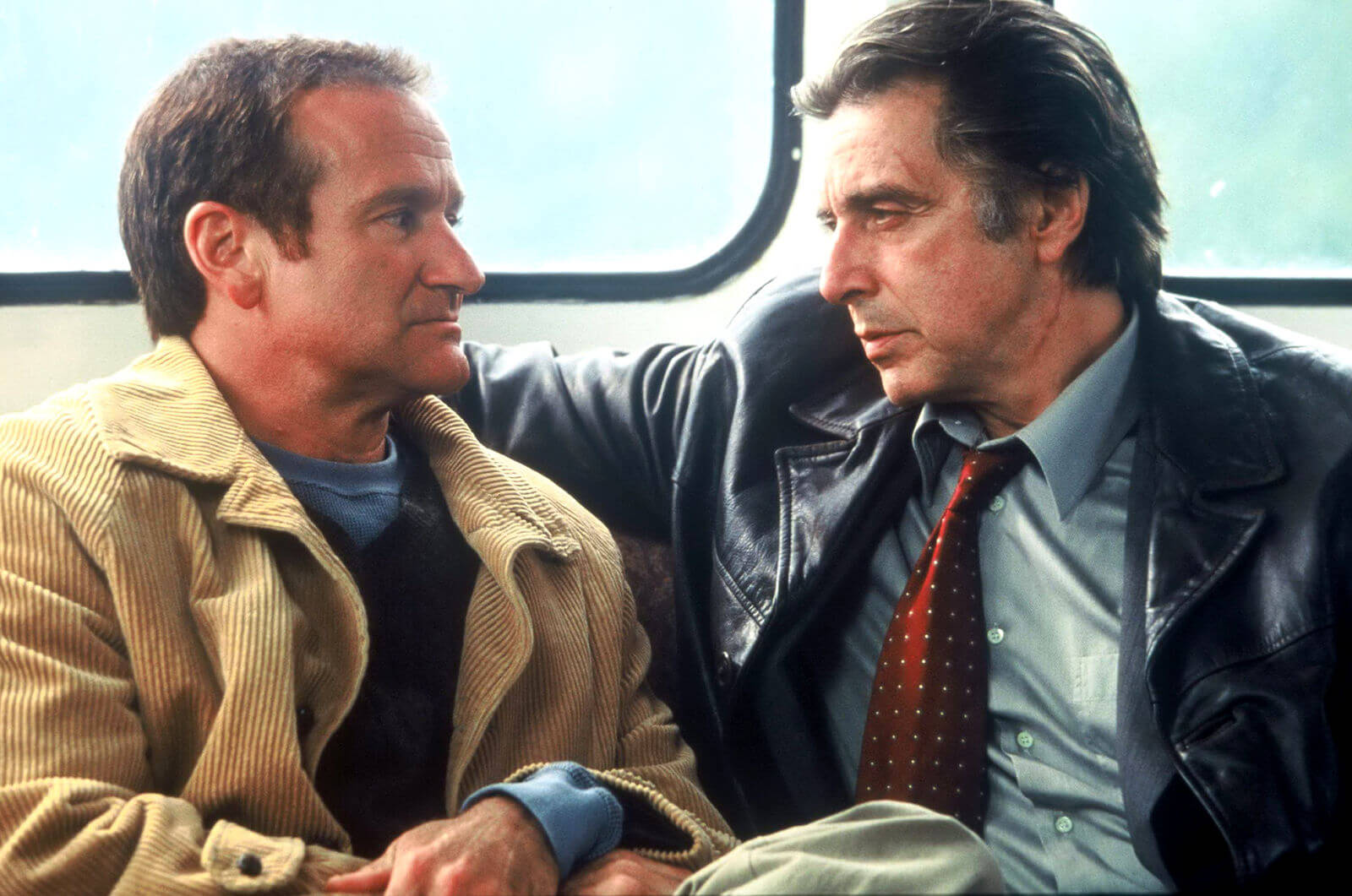 De la stanga: Robin Williams si Al Pacino