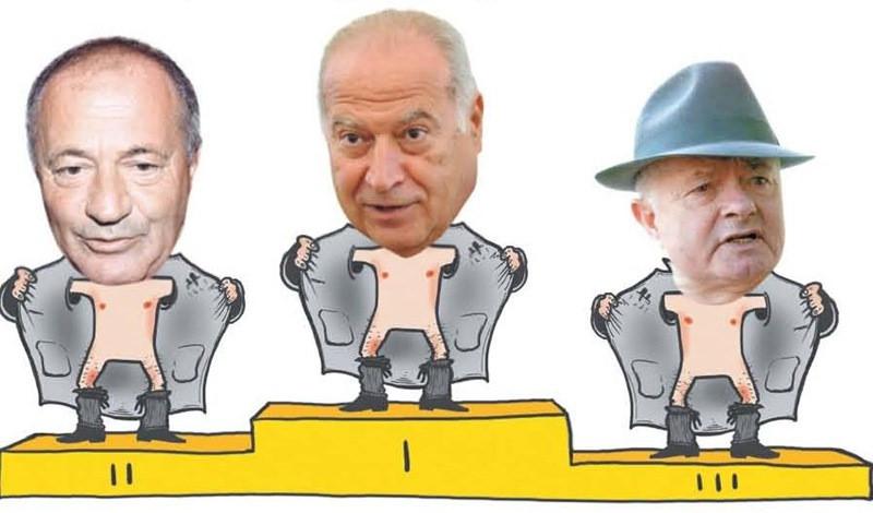 De la stanga: Sorin Rosca Stanescu, Dan Voiculescu, Virgil Magureanu