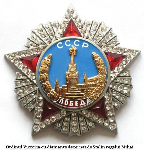 Decoratia sovietica acordata regelui Mihai de catre Stalin