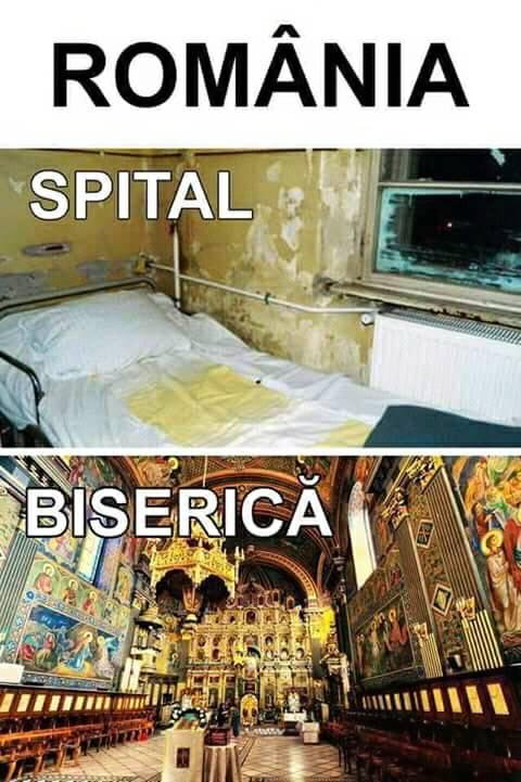Romania: spital versus biserica
