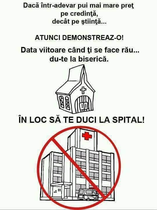 Biserica versus spital