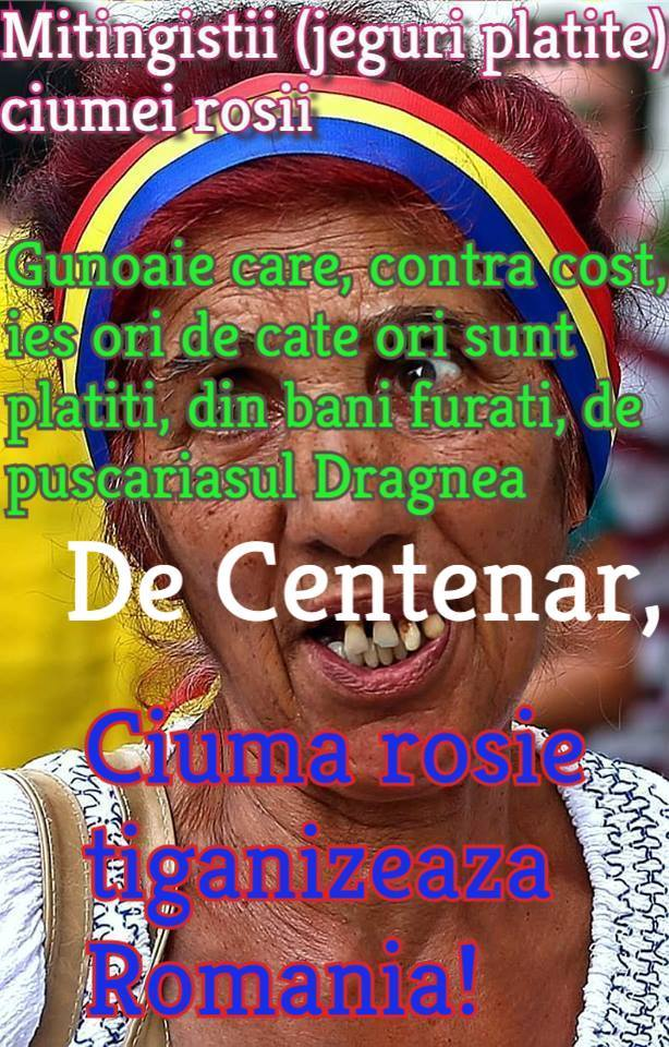 PSD = ciuma rosie = mafia tiganizeaza Romania!