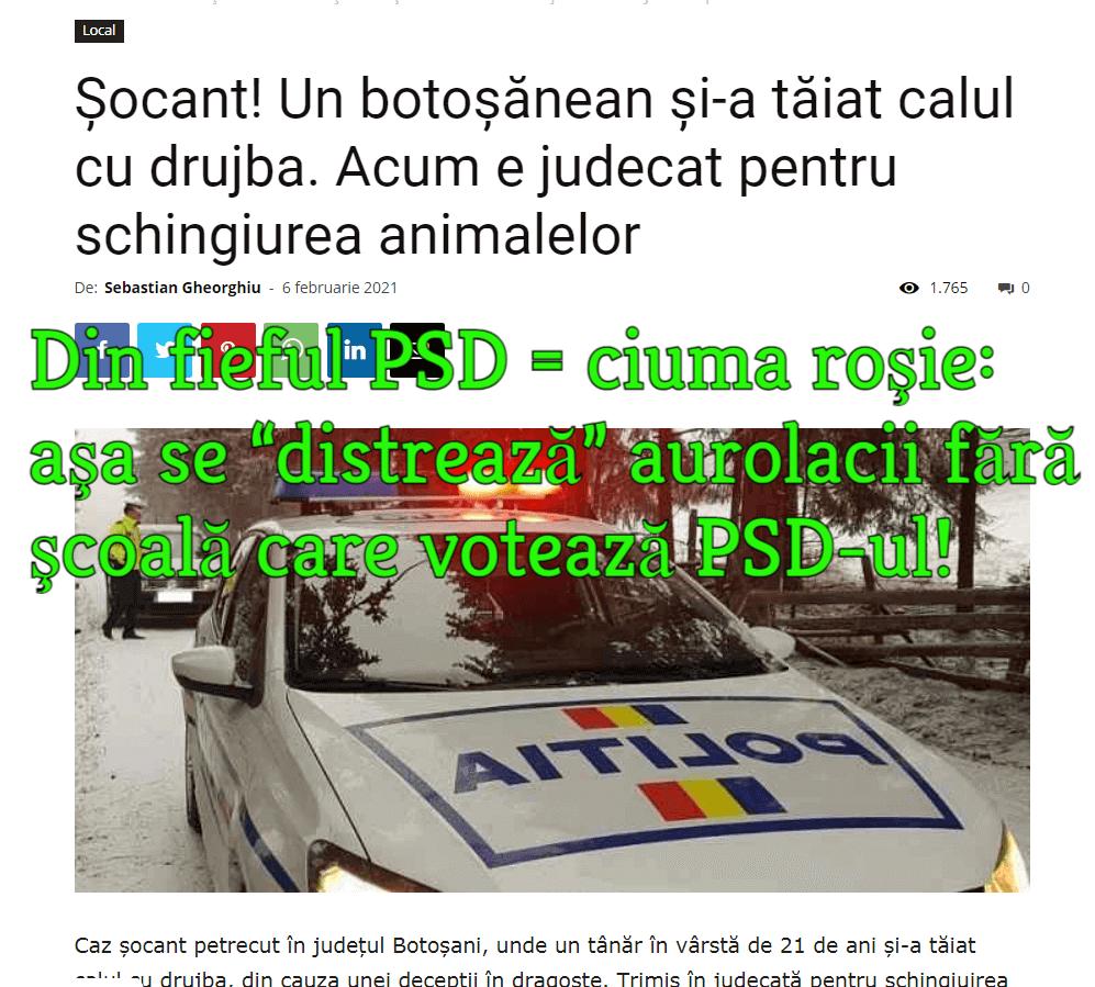 Botosani, votanti PSD