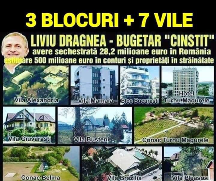Averea borfaşului PSD-ist Liviu Dragnea