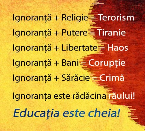 Ignoranta, Educatie
