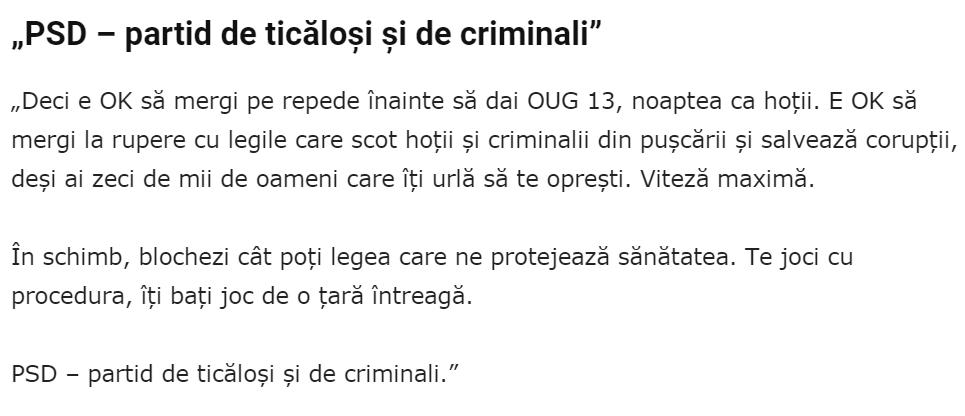 PSD = gasca de criminali