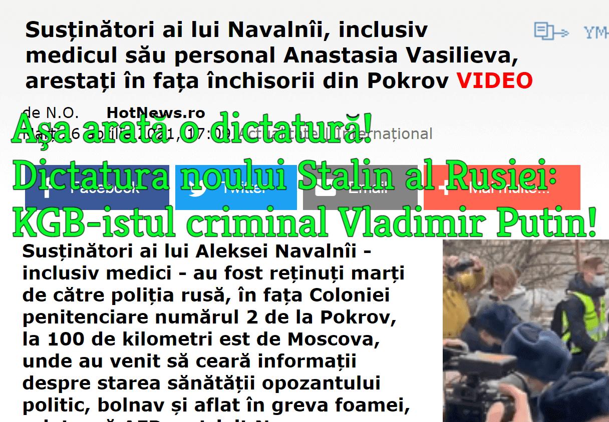 Dictatura criminalului KGB-ist Vladimir Putin