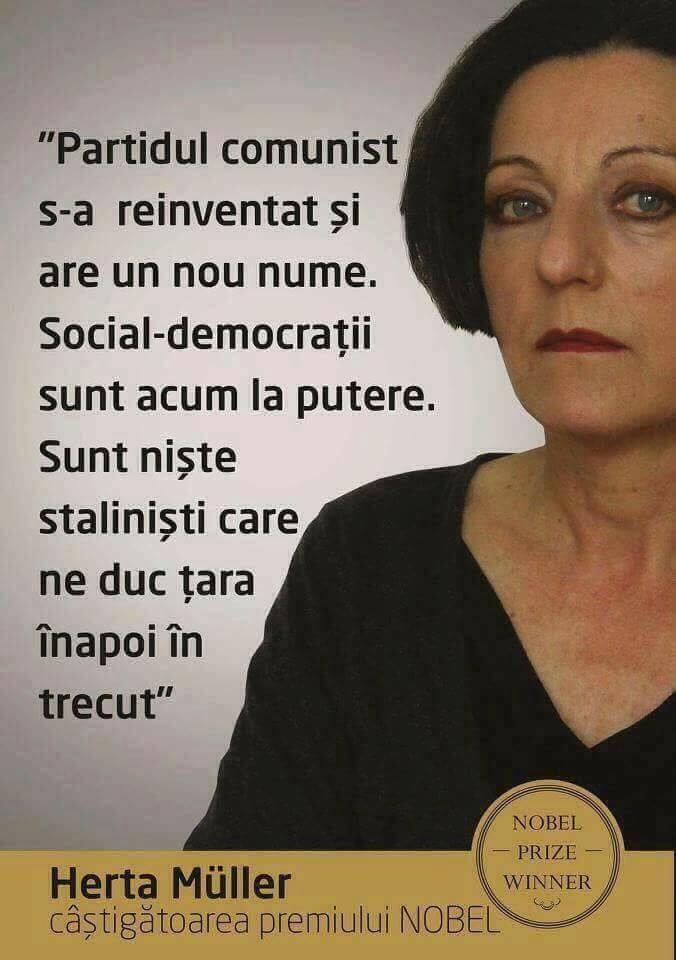 Herta Muller despre PSD