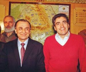 De la stanga: Ion Iliescu si Petre Roman