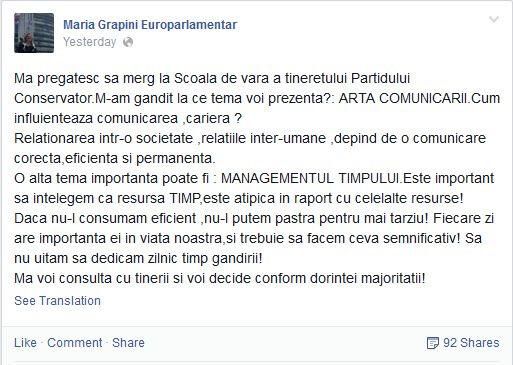 Maria Grapini, limba romana
