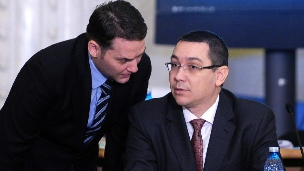 Dan Sova (stanga) si Victor Ponta