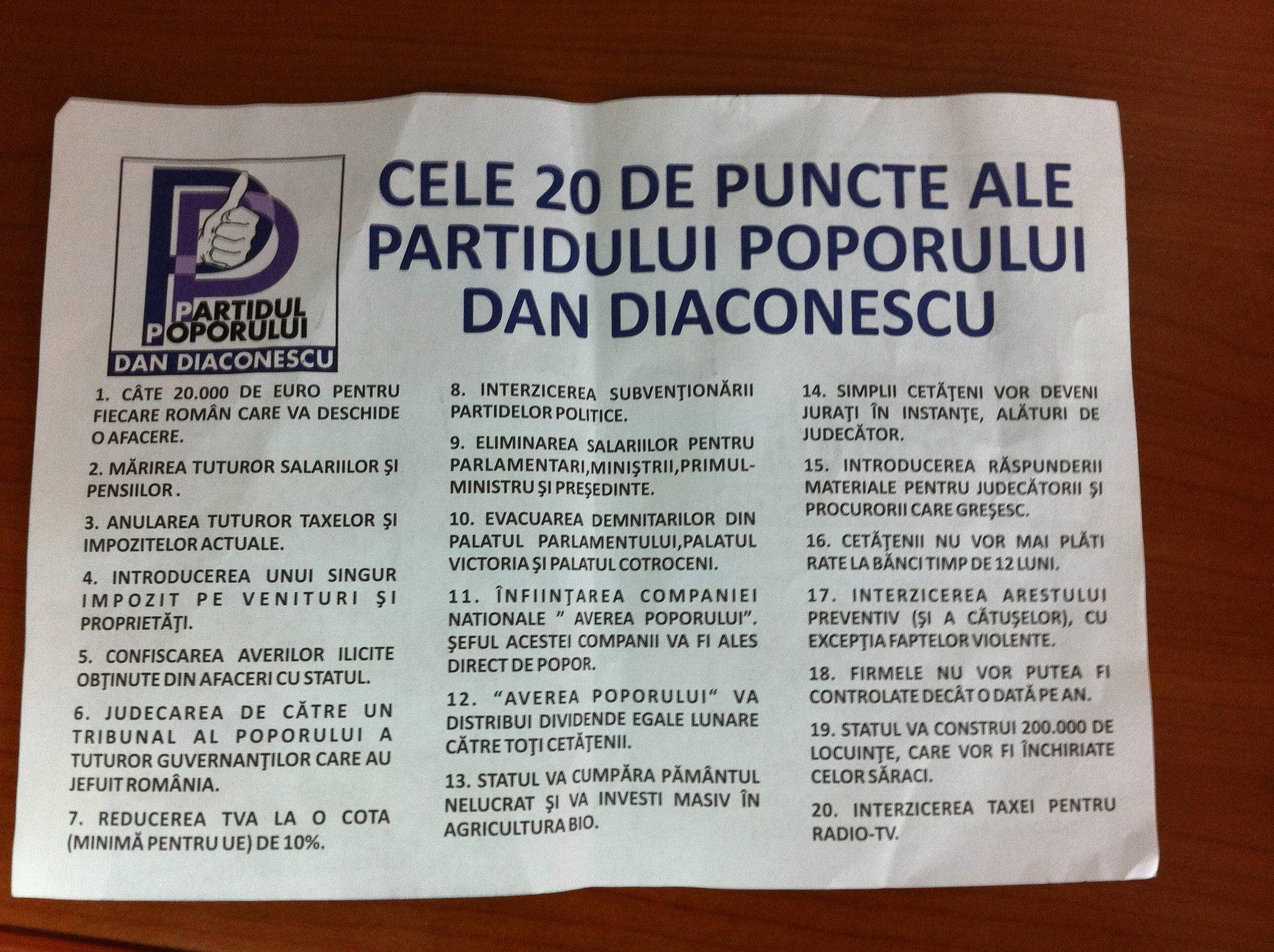 Program Dan Diaconescu