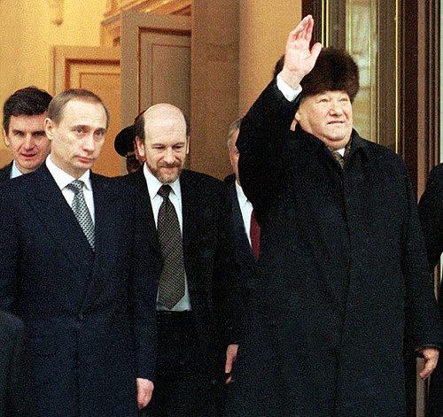 Vladimir Putin si Boris Eltin