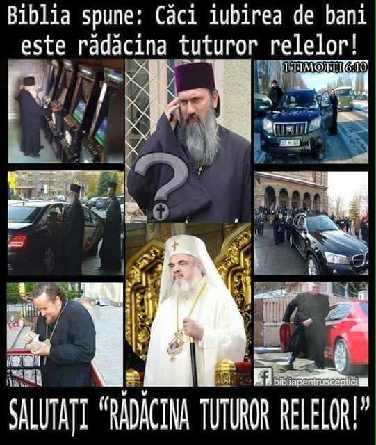 Biserica Ortodoxa iubitoare de bani